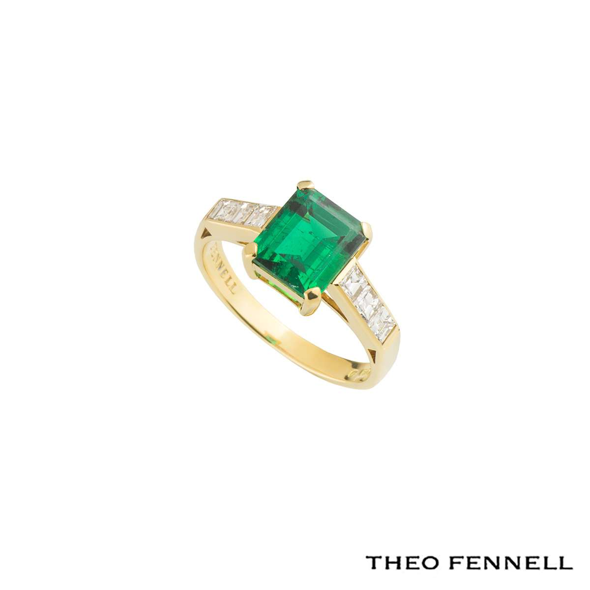 Theo Fennell Emerald and Diamond Ring